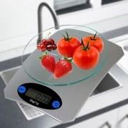 Balança de Cozinha Digital Precisão Prata 5 kgs CBRN01538