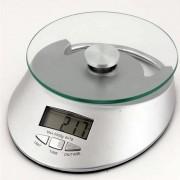 Balança digital eletrônica de cozinha com Relógio 1 g à 5 kg CBRN02399