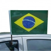 Bandeira Brasil Copa do Mundo Vidro Carro 2PC 42 x 29 cm