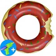 Boia Inflável Piscina Donuts Infantil Marrom 60 cm CBRN15023