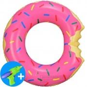 Boia Inflável Piscina Donuts Infantil Pink 60 cm CBRN15030