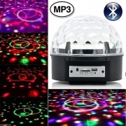 Bola Maluca LED RGB Holográfico Bluethooth Magic Ball CBRN08902