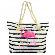 Bolsa de Praia Sacola com Alça de Corda Flamingo CBRN14873