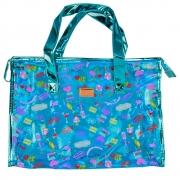 Bolsa Feminina Sacola Praia Transparente Party Azul CBRN17232