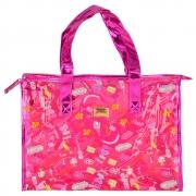Bolsa Feminina Sacola Praia Transparente Party Pink CBRN17263