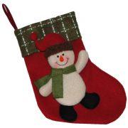 Bota de Natal em Pelúcia com Boneco de Neve 21cm de Altura CBRN0210