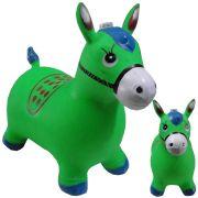 Brinquedo Cavalinho Pula Pula Inflável com Som e Led WMTDS787 Verde