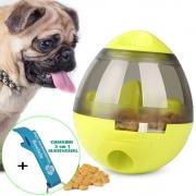Brinquedo Interativo Para Cães com Dispenser para Petisco e Ração Verde + Chaveiro CBRN18192
