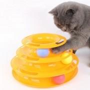 Brinquedo para Gatos Torre de Trilhas 3 níveis CBR04133 LARANJA