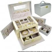 Caixa Para Joias Bijuteria Luxo Prata CBRN10745