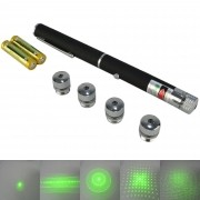 Caneta Laser Pointer Verde 100mw 5 ponteiras CBRN08803