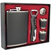 Cantil De Bolso Porta Bebida Whisky Liso preto CBRN113722