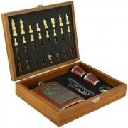 Cantil De Bolso Porta Bebida Whisky Xadrez Copo Luxo CBRN09046