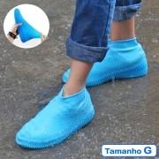 Capa de Chuva Tenis Calçado de Silicone Azul G CBRN11544
