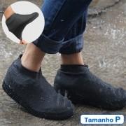 Capa de Chuva Tenis Calçado de Silicone Preto P CBRN11551