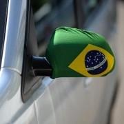 Capa Retrovisor de Carro Bandeira do Brasil Copa do Mundo 2PC YDH-BR0018