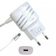 Carregador De Celular Universal Parede 1 USB bivolt 1.6A Branco CBRN05222