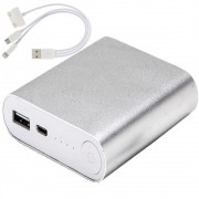 Carregador Portátil Power Bank WMTE35 de Metal Prata 6000mAh