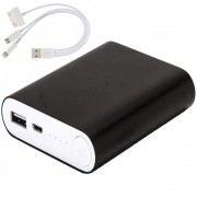 Carregador Portátil Power Bank WMTE35 de Metal Preto 6000mAh