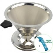 Coador de Café Filtro Aço Inox Reutilizável + Chaveiro CBRN18543