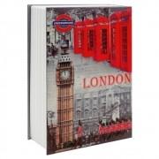 Cofre Livro Aço 2mm Book Safe com 2 chaves 26,5cm LONDON CBRN05031