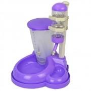 Comedouro bebedouro automatico para cães e gatos CBR04348 lilas