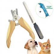 Cortador de Unha Para Gatos Cachorros com Lixa Marrom + Chaveiro CBRN18499