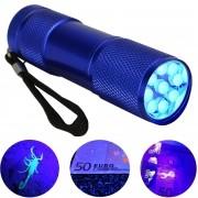 Detector de Dinheiro Falso Escorpião 9 LEDs UV Azul CBRN11803