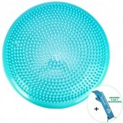 Disco de Equilíbrio Para Exercícios Inflável 33 cm Azul Claro + Chaveiro CBRN15979