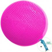 Disco de Equilíbrio Para Exercícios Inflável 33 cm Pink + Chaveiro CBRN16013