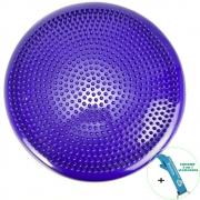 Disco de Equilíbrio Para Exercícios Inflável 33 cm Roxo + Chaveiro CBRN17751