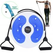 Disco de Torção Cintura Waist Twist Terapia Magnética Azul + Chaveiro CBRN16075