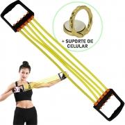 Elástico de Tensão Para Exercícios Amarelo + Suporte Celular CBRN16204
