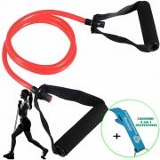 Extensor Elástico de Tensão Para Exercícios Ginástica Vermelho CBRN17973 + Chaveiro