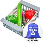 Escorredor de Frutas e Legumes Ajustável em Aço Inox  + Mochila CBRN18369