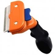 Escova tira pelos cachorros cães medios pelo curto CBR04416 laranja