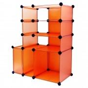 Estante multi-uso Organizadora 6 Compartimentos Laranja CBR1022
