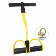 Extensor Elástico para Exercícios Pedal Amarelo + Suporte Celular CBRN14668