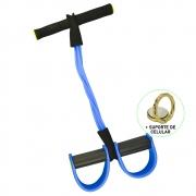 Extensor Elástico para Exercícios Pedal Azul + Suporte Celular CBRN14675