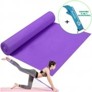 Faixa Elástica Para Exercício Resistência Yoga Roxo + Chaveiro CBRN15955