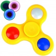 Fidget Hand Spinner Anti Stress com LED AMARELO CBRN03853