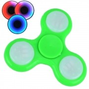 Fidget Hand Spinner Anti Stress com LED botão ON/OFF VERDE CBRN03839