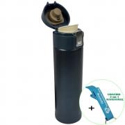 Garrafa Térmica Aço Inox com Vedação 400 ml Azul + Chaveiro CBRN18581