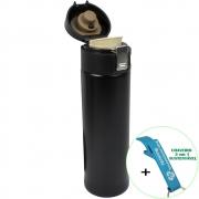 Garrafa Térmica Aço Inox com Vedação 400 ml Preto + Chaveiro CBRN18611