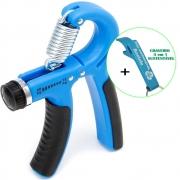 Hand Grip Exercitador Para Mãos Punho Emborrachado Azul + Chaveiro CBRN15870