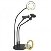 Iluminador Ring Light de Mesa Suporte Celular Microfone CBRN14378