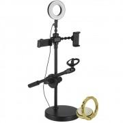 Iluminador Ring Light Para 2 Celulares e 1 Microfone CBRN14385