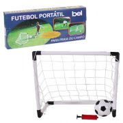 Jogo Futebol Portátil Belfix mod 4880 Kit 2 Traves + Bola + Bomba de Inflar