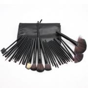 Kit de 32 Pincéis Para Maquiagem Profissional com Estojo Preto CBRN15450