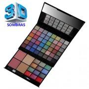 Kit Maquiagem Luisance 3D MA653 48 Sombras 2 Blush 2 P� Facial 3 Batons 9 Sombras Cremosas